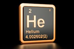 Free Helium He Chemical Element. 3D Rendering Royalty Free Stock Images - 110410379