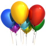 Helium Hinauftreiben von Aktienkursen (Mieten) Stockfoto