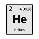 Helium periodic table element gray icon on white background Royalty Free Stock Photography