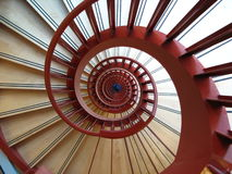 Helix. A spiral red staircase. Looks like a helix stock photo