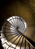 Helix. A spiral stair in a Saint Isaac's Cathedral.(Russia, St Petersburg Stock Image