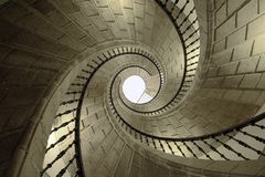 Helix. Helical stairs in Santo Domingo de Bonaval. Santiago de Compostela, Spain Royalty Free Stock Photos