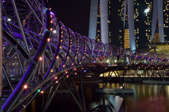 The HELIX. Beautiful bridge at marina bay Stock Image