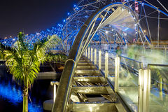 Helix Bridge. The Helix Bridge , previously known as the Double Helix Bridge , is a pedestrian bridge linking Marina Centre with Marina South in the Marina Bay royalty free stock images