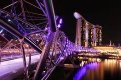 The Helix Bridge. Marina Bay Sand, Singapore Royalty Free Stock Image