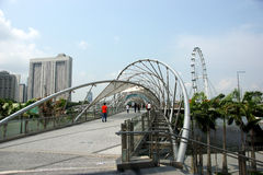 Helix Bridge, Marina Bay Waterfront, Singapore Royalty Free Stock Photography