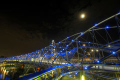 Helix Bridge at Night Stock Images