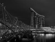 HELIX BRIDGE AT NIGHT Royalty Free Stock Image