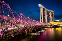 The helix bridge Stock Photography