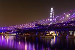 Helix Bridge at night Royalty Free Stock Photos
