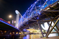 Helix Bridge at night Royalty Free Stock Image