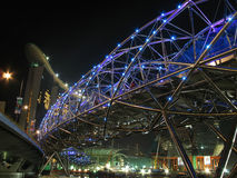 The Helix bridge opens stock photography