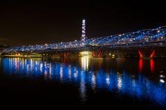 Helix Bridge @ Singapore. Helex bridge @ Marina bay sand building at Singapore Stock Images