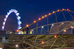 The Helix Bridge, Singapore Stock Photography