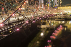Helix bridge in Singapore Royalty Free Stock Photography