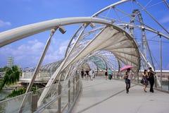 Helix Bridge in Singapore Royalty Free Stock Image