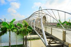 Helix Bridge in Singapore Stock Image