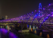 Helix Bridge in Singapore Royalty Free Stock Images
