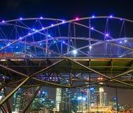 Helix bridge, Singapore Royalty Free Stock Photos