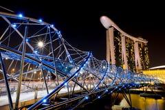 Helix Bridge Singapore travel landmark Royalty Free Stock Image