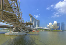 Helix Bridge singapore travel landmark Royalty Free Stock Image