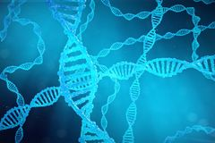 Helix DNA molecule with modified genes. Correcting mutation by genetic engineering. Concept Molecular genetics, 3d. Helix DNA molecule with modified genes Stock Images