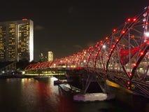 Helix most przy marina zatoką, Singapore zdjęcia royalty free