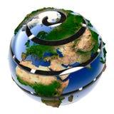 Helix Planet Earth Stock Photo