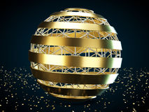 Helix sphere. On a abstract background. 3D illustration Royalty Free Stock Image