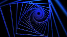 Spiral background of blue squares stock video footage