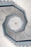 Helix stairs. In a tower royalty free stock images