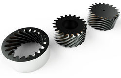 Helix Wheels Mechanical Parts Royalty Free Stock Photography