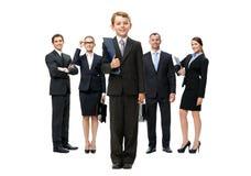 Hellång stående av gruppen av affärsfolk arkivfoto