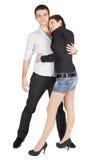 Hell Abbildung eines lächelnden jungen Paares in der Liebe Lizenzfreie Stockbilder