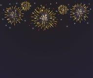 Hell bunte Feuerwerke auf Dämmerung Lizenzfreies Stockfoto