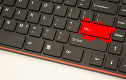 Hell button keyboard concept Royalty Free Stock Images
