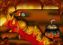 Hell. Color illustration of a background that draws hell vector illustration