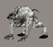Hell Creature. Digital creature for your artistic creations and/or projects vector illustration