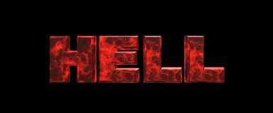 Hell 3d rendering. Hell high resolution 3d rendering Stock Photography