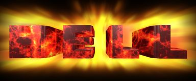 Hell 3d rendering. Hell high resolution 3d rendering Royalty Free Stock Photo