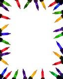 Hell farbige festliche Minileuchten Stockbild