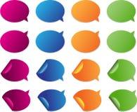 Hell farbige glatte Web-Elemente für das Hinzufügen von yo Lizenzfreies Stockbild