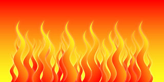 Hell Fire. Vector based flames Royalty Free Stock Photos