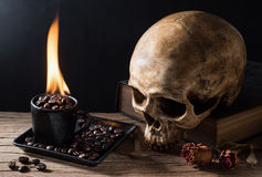 Hell fire coffee Royalty Free Stock Images