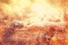 Hell fire flames abstract background Royalty Free Stock Photography