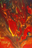 Hell fire painting. Abstract flaming paints on linen, mixing to a crescendo. Looks like hell fire Royalty Free Stock Images