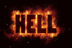 Hell Fire Satanic sign gothic style evil esoteric. Occultism Stock Photo