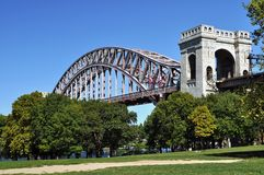 Hell gate bridge Stock Photography