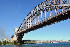 Hell gate bridge in Astoria. This is a picture of the Hell gate bridge in Astoria, New York Royalty Free Stock Photo