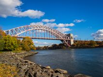 Hell Gate Bridge stock photo